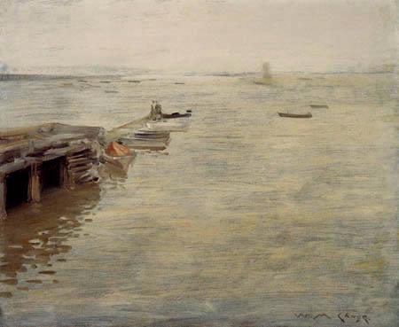 William Merritt Chase - Ein grauer Tag an der Küste