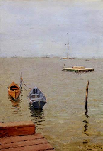 William Merritt Chase - Un día de tormenta en la playa