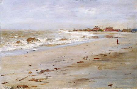 William Merritt Chase - Mar agitado