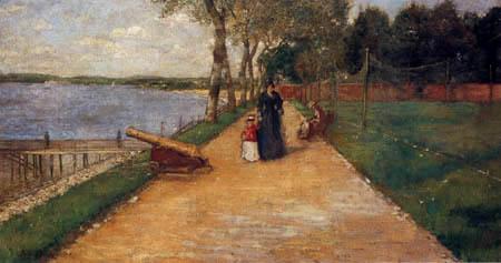 William Merritt Chase - À la baie, croquis