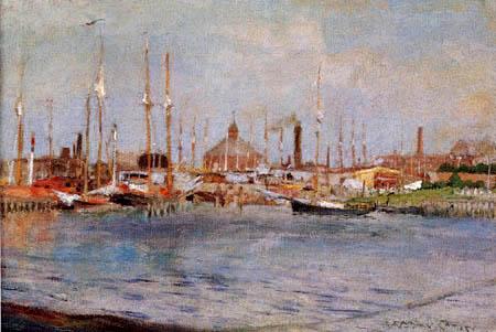 William Merritt Chase - Bateaux dans le port