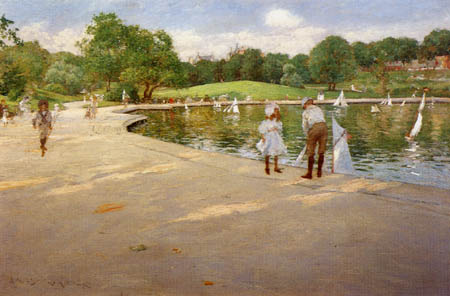 William Merritt Chase - Junge Hobbysegler