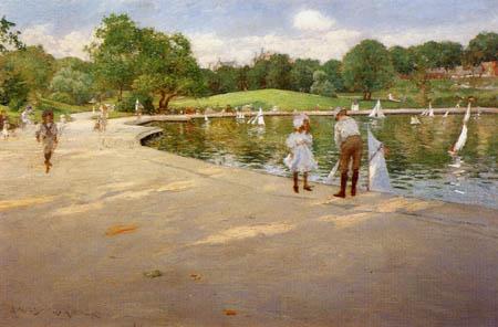 William Merritt Chase - Le lac des yachts miniatures