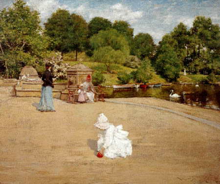 William Merritt Chase - Ein Moment auf der Terrasse