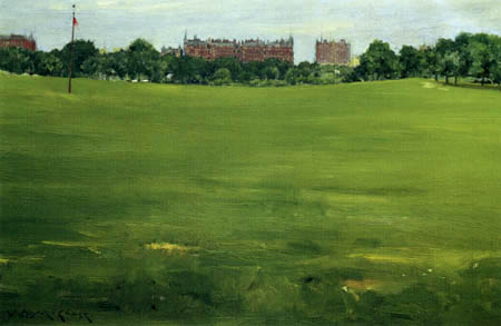 William Merritt Chase - The Common, Central Park