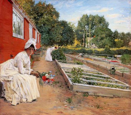 William Merritt Chase - La jardinería