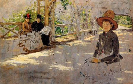 William Merritt Chase - Les dames s'asseyent dans l'ombre