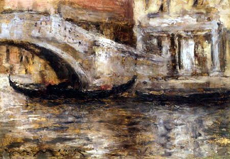 William Merritt Chase - Gondola of Venice