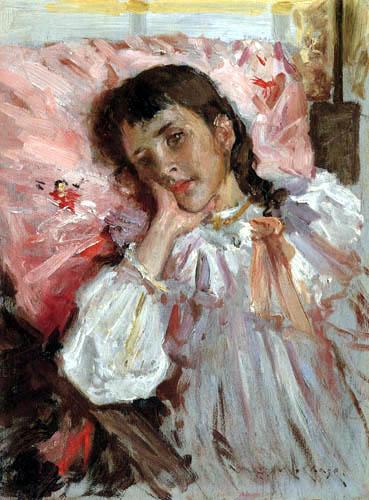 William Merritt Chase - Cansado, retrato de la hija del artista