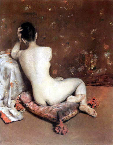 William Merritt Chase - Das Modell