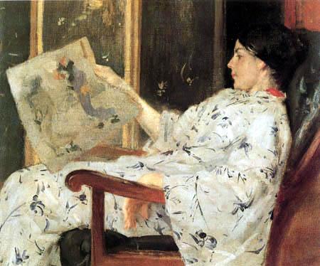 William Merritt Chase - Japanisches Gemälde
