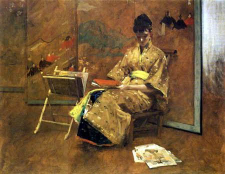 William Merritt Chase - El Kimono