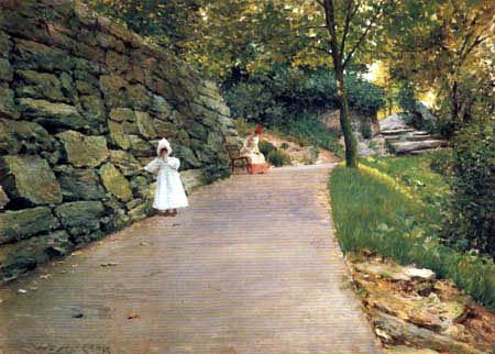 William Merritt Chase - A Walk in the Park