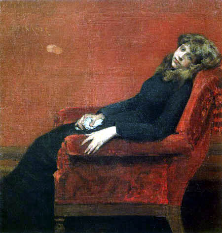 William Merritt Chase - At Her Ease