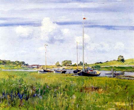 William Merritt Chase - At the Boatlanding