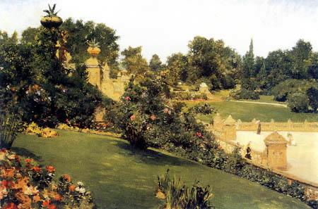 William Merritt Chase - Terraza en la alameda, Central Park, Nueva York