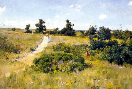 William Merritt Chase - Shinnecock Landscape with Figures
