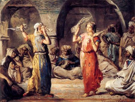 Théodore Chassériau - Marokkanischer Schleiertanz