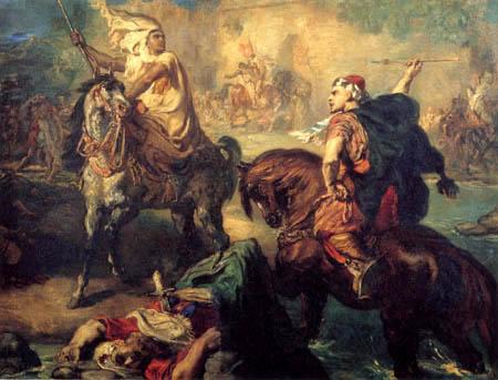 Théodore Chassériau - Zweikampf arabischer Stammesführer