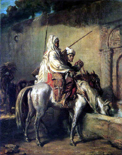 Théodore Chassériau - Arabs on a horse trough
