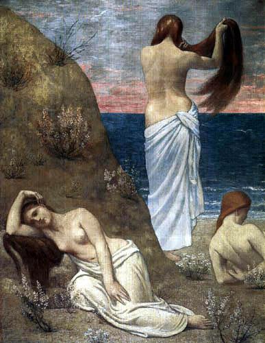 Pierre Puvis de Chavannes - Girl at the beach