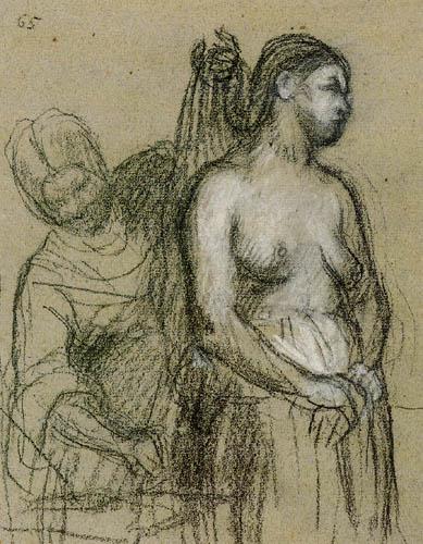 Pierre Puvis de Chavannes - Two women comb the hair
