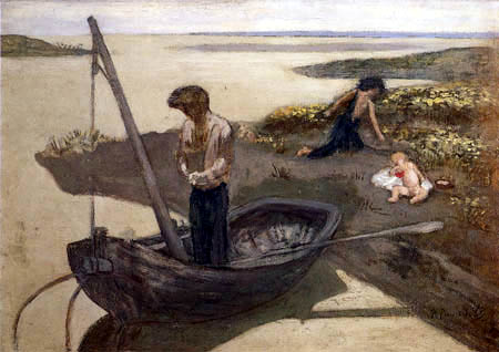 Pierre Puvis de Chavannes - The Poor Fisherman