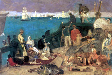 Pierre Puvis de Chavannes - Marseille, the Gateway to the Orient