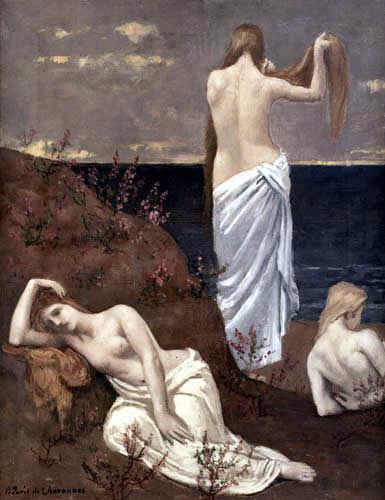 Pierre Puvis de Chavannes - Mädchen an der Meeresküste