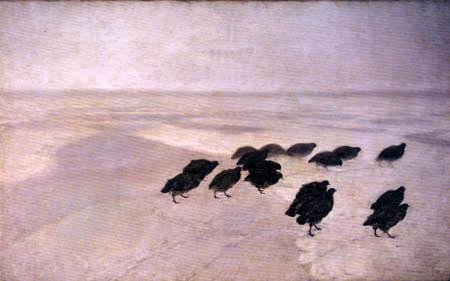 Józef Chełmoński ( Chelmonski ) - Partridges