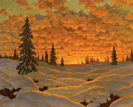 Ivan Federovich Choultsé - Sunset in Finland