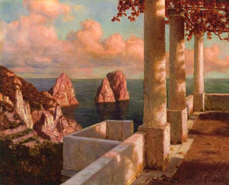 Ivan Federovich Choultsé - The Faraglioni Rocks, Capri
