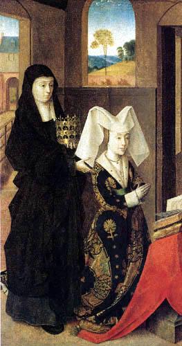 Petrus Christus - Isabella von Portugal mit der hl. Elisabeth