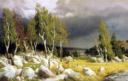 Fanny Churberg - Rodung, Landschaft von Uusimaa