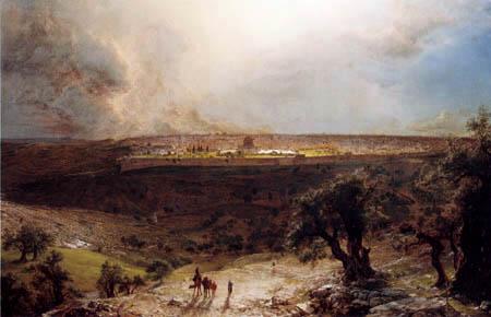 Frederick Edwin Church - Jerusalem vom Ölberg gesehen