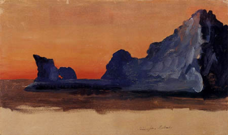 Frederick Edwin Church - Iceberg by midnight