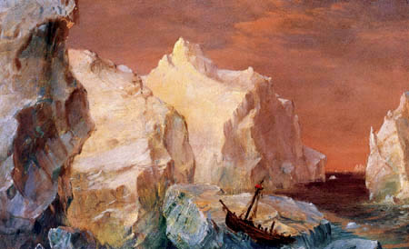 Frederick Edwin Church - Icebergs and ship wreck