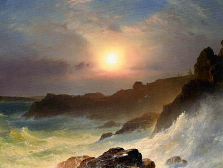 Frederick Edwin Church - Coast Scene, Mount Desert