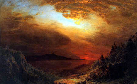 Frederick Edwin Church - Twilight Mount Desert Island, Maine