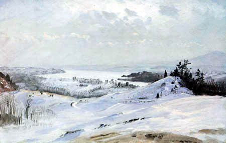 Frederick Edwin Church - Winterlandschaft bei Olana