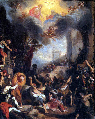 Ludovico Cardi da Cigoli - Le martyre de Saint-Etienne, esquisse à l'huile