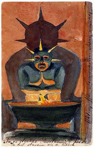 Mykolajus Ciurlionis (Čiurlionis) - Postcard God of the Orient