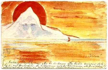 Mikalojus Konstantinas Ciurlionis (Čiurlionis) - Postkarte Jehova