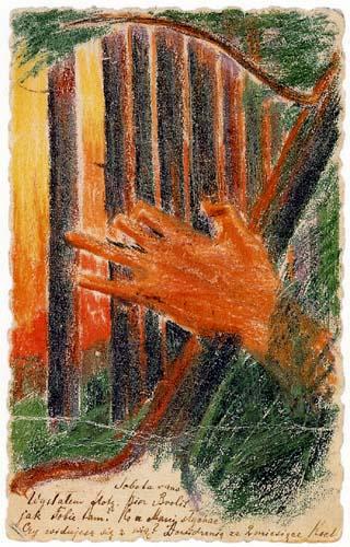 Mikalojus Konstantinas Ciurlionis (Čiurlionis) - Postkarte Waldesrauschen