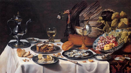 Pieter Claesz - Still Life with Turkey