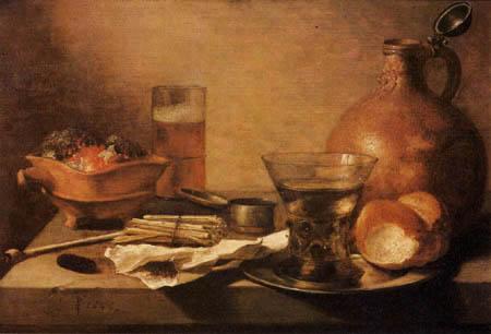 Pieter Claesz - Stillleben mit Krug