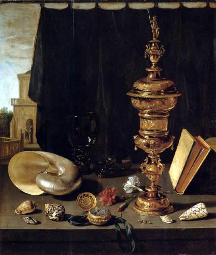 Pieter Claesz - Stillleben mit hohem Goldpokal
