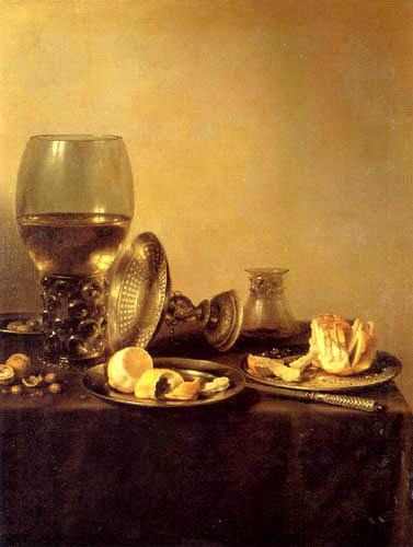 Pieter Claesz - Still life with roman glass