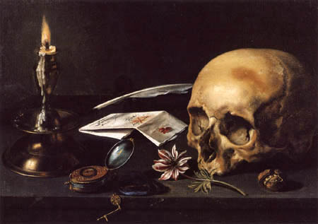 Pieter Claesz - Still Life with Letter and Candle