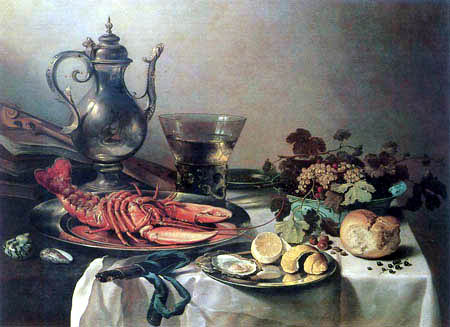 Pieter Claesz - Still-life with a lobster